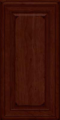 Square Raised Panel - Solid (BLC) Cherry in Burnished Cabernet - Wall