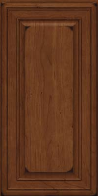 Square Raised Panel - Solid (BLC) Cherry in Burnished Chocolate - Wall