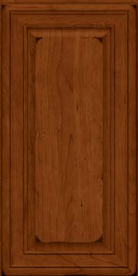 Square Raised Panel - Solid (BLC) Cherry in Burnished Cinnamon - Wall