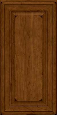 Square Raised Panel - Solid (BLC) Cherry in Burnished Ginger - Wall