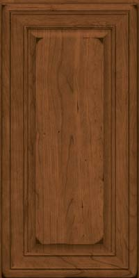Square Raised Panel - Solid (BLC) Cherry in Burnished Rye - Wall