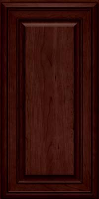 Square Raised Panel - Solid (BLC) Cherry in Cabernet - Wall