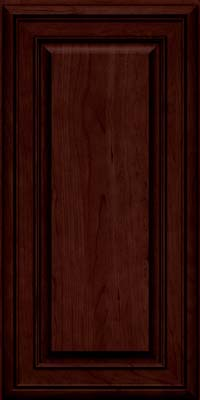 Square Raised Panel - Solid (BLC) Cherry in Cabernet w/Onyx Glaze - Wall