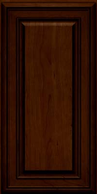 Square Raised Panel - Solid (BLC) Cherry in Chocolate w/Ebony Glaze - Wall