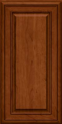 Square Raised Panel - Solid (BLC) Cherry in Cinnamon - Wall