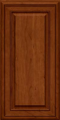 Square Raised Panel - Solid (BLC) Cherry in Cinnamon w/Onyx Glaze - Wall