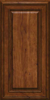 Square Raised Panel - Solid (BLC) Cherry in Cognac - Wall