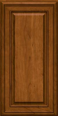 Square Raised Panel - Solid (BLC) Cherry in Golden Lager - Wall