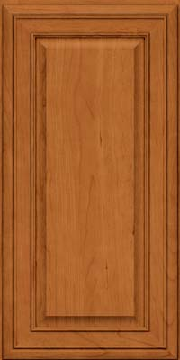 Square Raised Panel - Solid (BLC) Cherry in Honey Spice - Wall