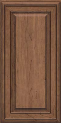 Square Raised Panel - Solid (BLC) Cherry in Husk Suede - Wall