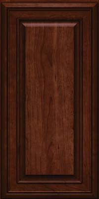 Square Raised Panel - Solid (BLC) Cherry in Kaffe - Wall