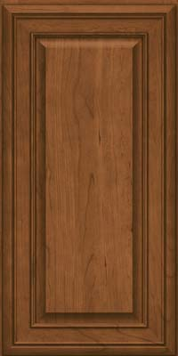 Square Raised Panel - Solid (BLC) Cherry in Rye - Wall