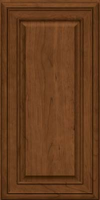 Square Raised Panel - Solid (BLC) Cherry in Rye w/Sable Glaze - Wall