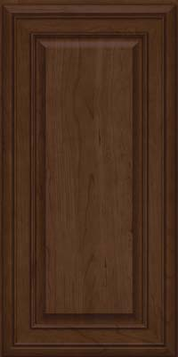 Square Raised Panel - Solid (BLC) Cherry in Saddle Suede - Wall
