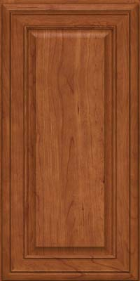 Square Raised Panel - Solid (BLC) Cherry in Sunset - Wall