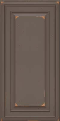 Square Raised Panel - Solid (BLC) Cherry in Vintage Greyloft w/ Sable Patina - Wall