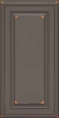 Square Raised Panel - Solid (BLC) Cherry in Vintage Greyloft - Wall