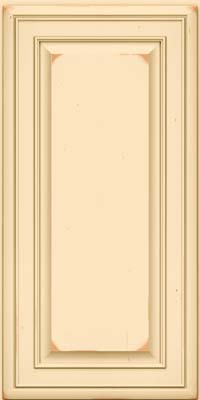 Square Raised Panel - Solid (BLC) Cherry in Vintage Biscotti - Wall