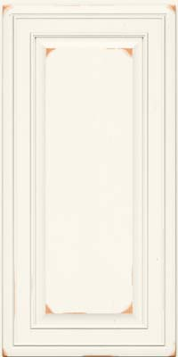 Square Raised Panel - Solid (BLC) Cherry in Vintage Dove White - Wall