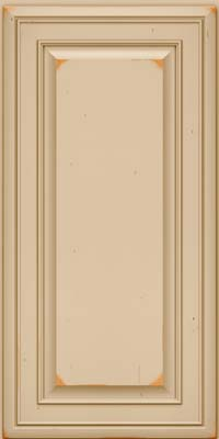 Square Raised Panel - Solid (BLC) Cherry in Vintage Mushroom - Wall