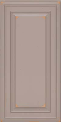 Square Raised Panel - Solid (BLC) Cherry in Vintage Pebble Grey - Wall