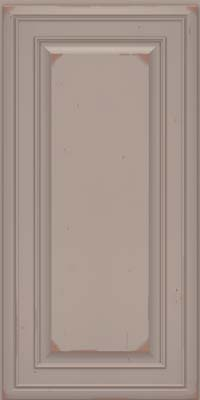 Square Raised Panel - Solid (BLC) Cherry in Vintage Pebble Grey w/ Cocoa Patina - Wall