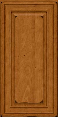 Square Raised Panel - Solid (BLM) Maple in Burnished Golden Lager - Wall