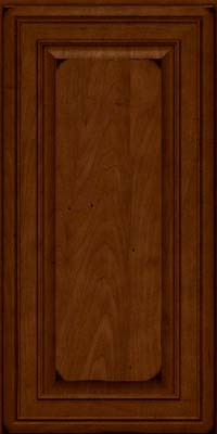 Square Raised Panel - Solid (BLM) Maple in Burnished Chestnut - Wall