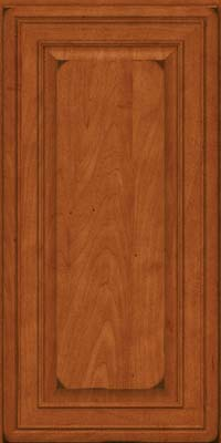 Square Raised Panel - Solid (BLM) Maple in Burnished Cinnamon - Wall