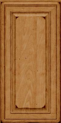 Square Raised Panel - Solid (BLM) Maple in Burnished Ginger - Wall