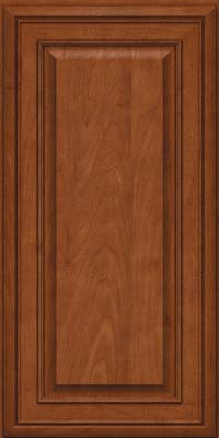 Square Raised Panel - Solid (BLM) Maple in Chestnut - Wall