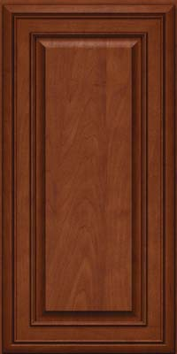 Square Raised Panel - Solid (BLM) Maple in Chestnut w/Onyx Glaze - Wall