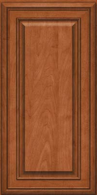 Square Raised Panel - Solid (BLM) Maple in Cinnamon - Wall