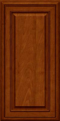 Square Raised Panel - Solid (BLM) Maple in Cinnamon w/Onyx Glaze - Wall