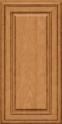 Square Raised Panel - Solid (BLM) Maple in Ginger w/Sable Glaze - Wall