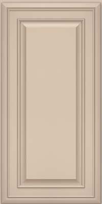 Square Raised Panel - Solid (BLM) Maple in Mushroom w/ Cinder Glaze - Wall