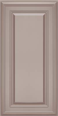 Square Raised Panel - Solid (BLM) Maple in Pebble Grey w/ Cocoa Glaze - Wall