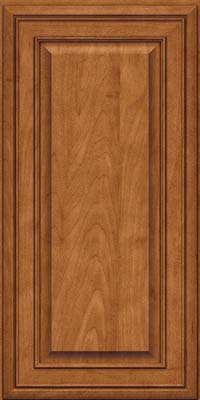 Square Raised Panel - Solid (BLM) Maple in Praline w/Onyx Glaze - Wall