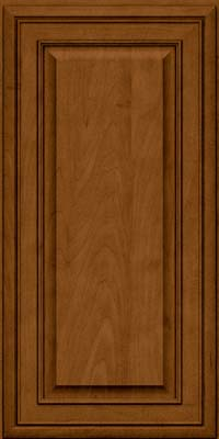 Square Raised Panel - Solid (BLM) Maple in Rye w/Sable Glaze - Wall