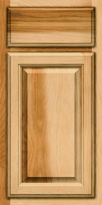 Square Raised Panel - Veneer (WT) Hickory in Natural - Base