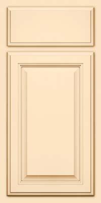 Square Raised Panel - Veneer (GV) Maple in Biscotti w/Cocoa Glaze - Base