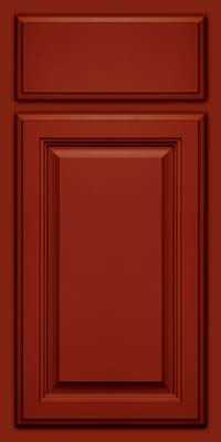 Square Raised Panel - Veneer (GV) Maple in Cardinal w/Onyx Glaze - Base