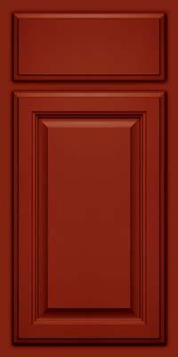 Square Raised Panel - Veneer (GV) Maple in Cardinal w/Onyx Glaze - Base
