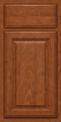 Square Raised Panel - Veneer (GV) Maple in Chestnut - Base