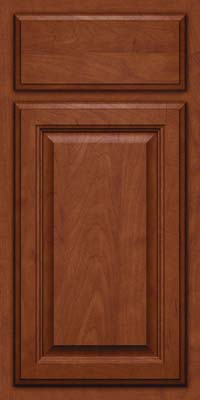 Square Raised Panel - Veneer (GV) Maple in Chestnut w/Onyx Glaze - Base