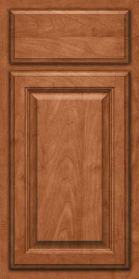 Square Raised Panel - Veneer (GV) Maple in Cinnamon - Base