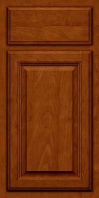 Square Raised Panel - Veneer (GV) Maple in Cinnamon w/Onyx Glaze - Base