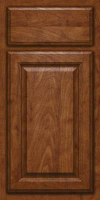 Square Raised Panel - Veneer (GV) Maple in Cognac - Base