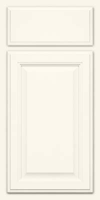 Square Raised Panel - Veneer (GV) Maple in Dove White - Base