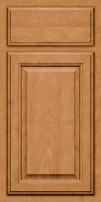 Square Raised Panel - Veneer (GV) Maple in Ginger w/Sable Glaze - Base